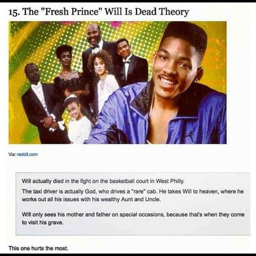 Nice The Fresh Prince of Bel Air is dead theory
