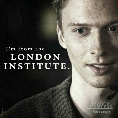 """I'm from the London Institute"" Sebastian. Shadowhunters 2x11"