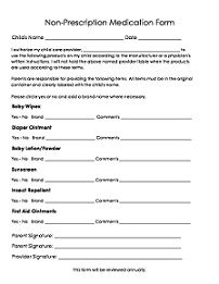 Free child care forms to make starting your daycare even easier. Large selection of forms. This page covers medication forms. Just click and print to use immediately.