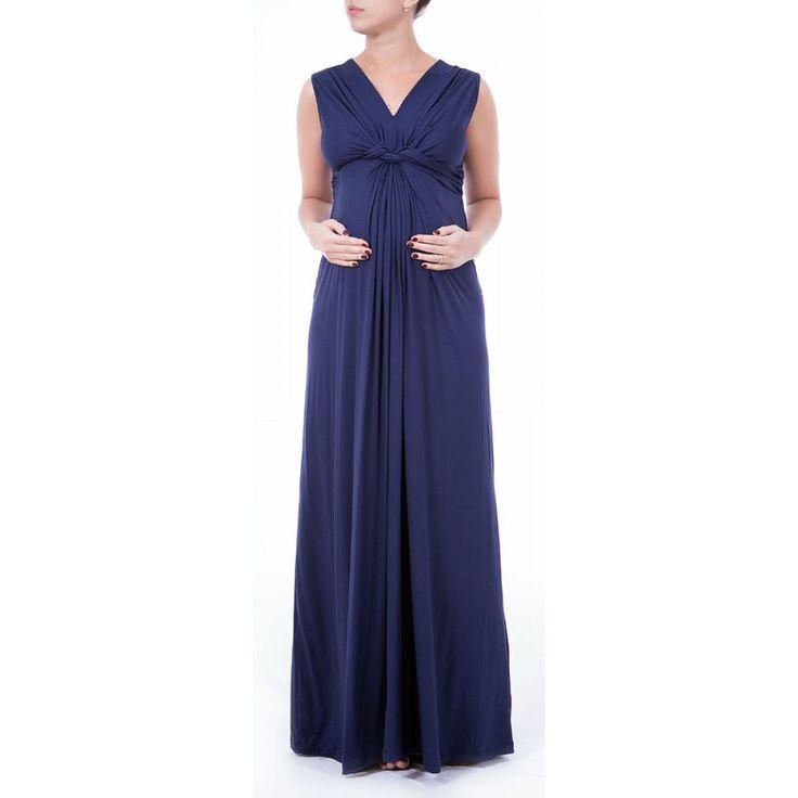 Vestido Gestante Longo Com Nó Busto Franzido - R$ 249,00 em Mercado Livre