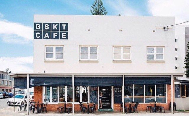 4 Lavarack Rd, Gold Coast, Queensland  BSKT cafe is located on the beach in ...