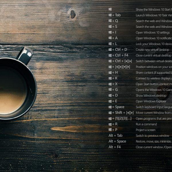 4 Free #Windows 10 Keyboard Shortcut Desktop Background Images - Mailbird
