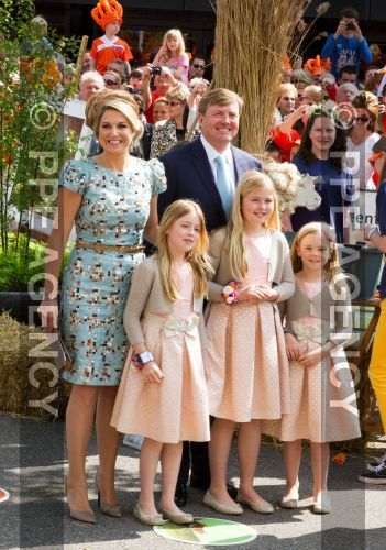 King Willem-Alexander and Queen Maxima and Princess Amalia and Princess Alexia and Princess Ariane