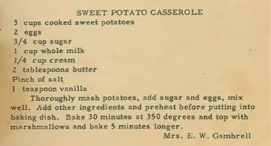 Family Recipe Friday ~ Sweet Potato Casserole #genealogy #familyhistory