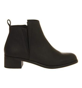 Office Concept Mid Heel Ankle boots Black Leather - Ankle Boots