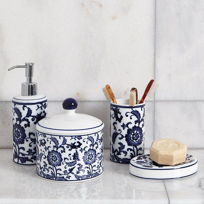 Blue White Bath Collection Blue White Bathrooms Ballard Designs Blue White