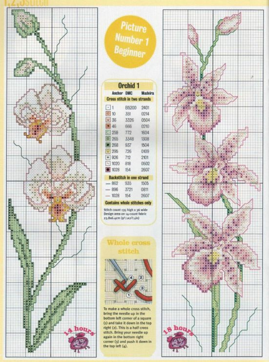 Flower Cross Stitch - Orchids