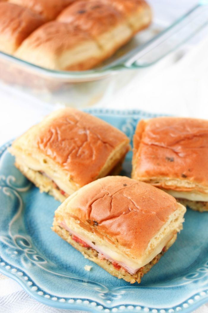 After I learned how Delicious and Easy Cheeseburger Sliders Recipe were to make, I decided to oven bake these Easy Pesto Ham Sliders Burger Recipe. YUM!