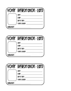 Election Time! Student Voter Registration Card