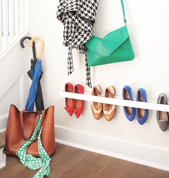 DIY Project Idea: Simple Shoe Storage for the Entryway Emily Henderson | Apartment Therapy