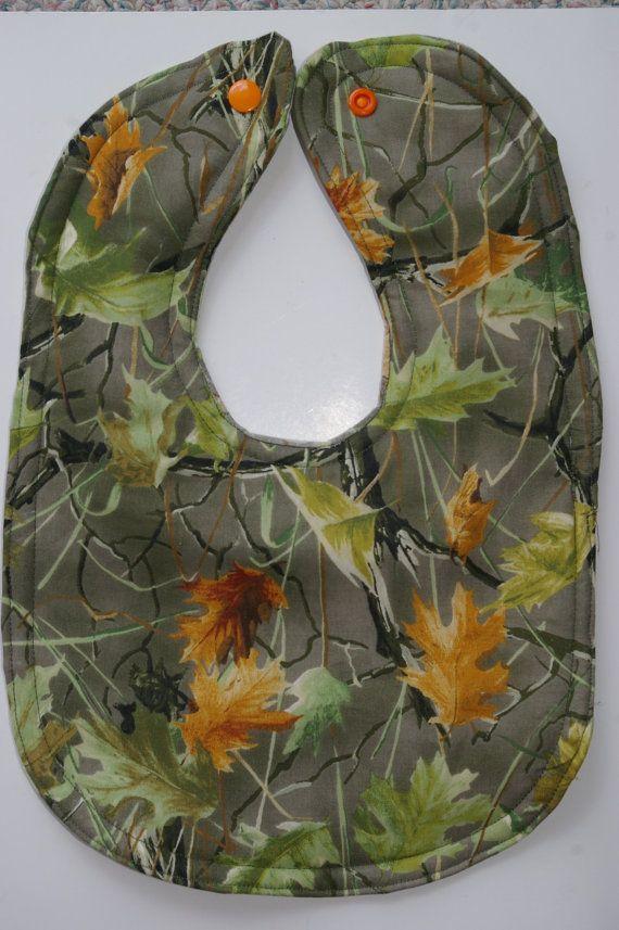 camouflage baby bib by BeastiesBabies on Etsy, $7.50