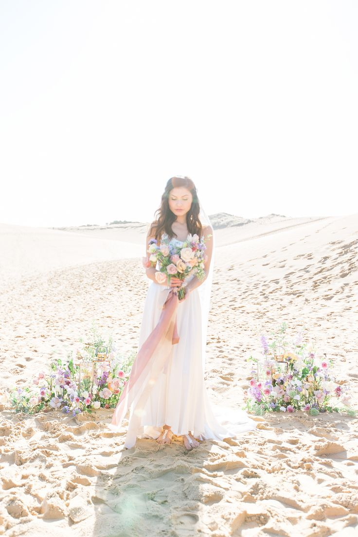 Pastel Beach Elopement Inspiration - Polka Dot Bride | Photo by https://www.polkadotbride.com/?p=616201&preview=true