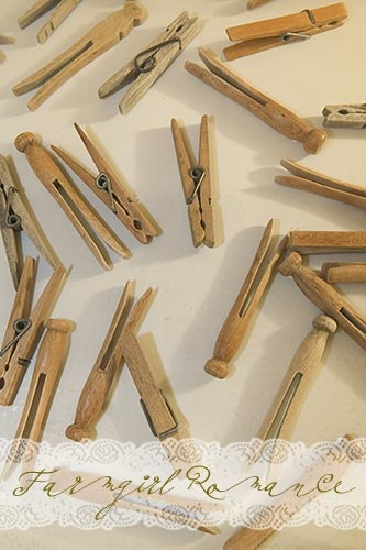 I love wooden clothespins! <3..they work better than the plastic clothespins.