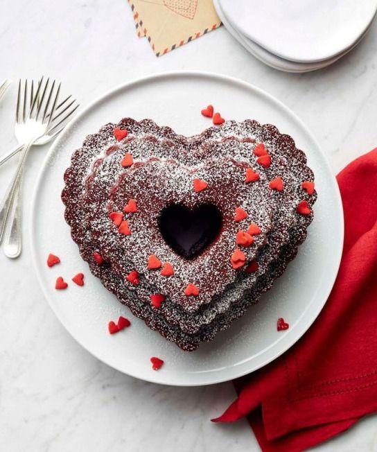 Heart-Shaped Red Velvet Bundt Cake