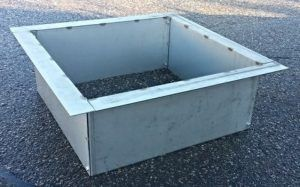 Rectangle Fire Pit Liner Stainless Steel Square Or Rectangular Fire Pit Liner Top Flange