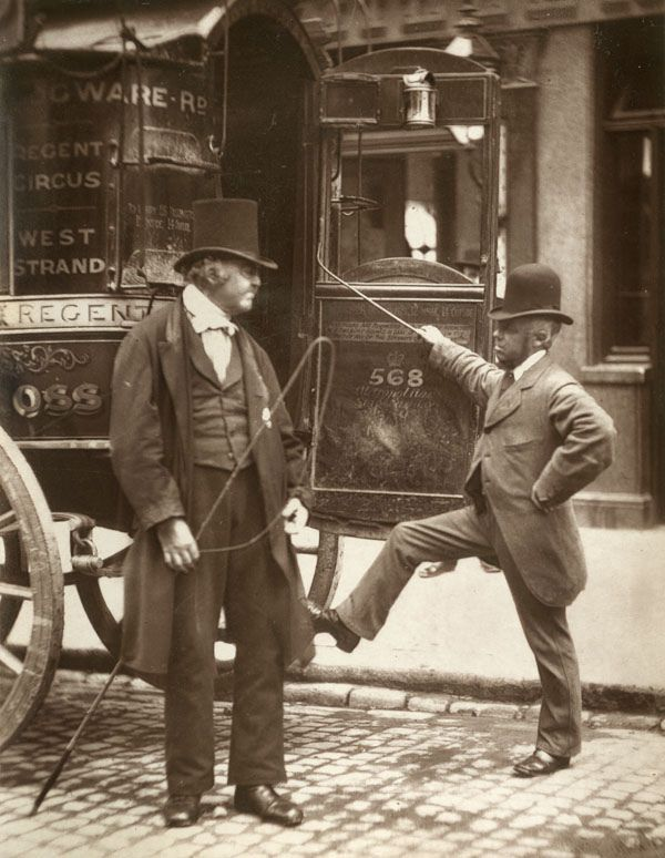 Victorian London omnibus drivers - one or two were arrested by Inspector Minahan