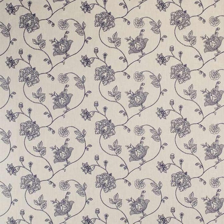 Warwick Fabrics : MANALI, Colour INDIGO