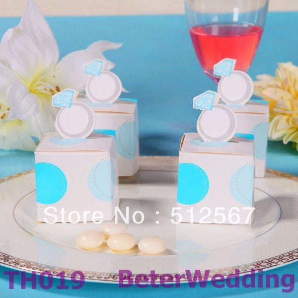 党装飾または党favor@ http://www.BeterWedding.comとして婚約指輪の好意箱 TH019の使用