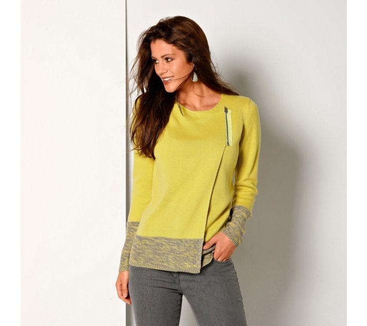 Dvojfarebný sveter paleto | blancheporte.sk #blancheporte #blancheporteSK #blancheporte_sk #zimnákolekcia #zima