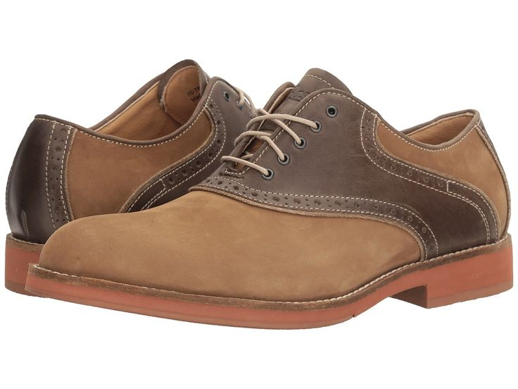 Men's 1950s Shoes Styles- Classics to Saddles to Rockabilly G.H. Bass amp Co. - Noah Dirty BuckTaupe Nubuck Mens Lace up casual Shoes $109.95 AT vintagedancer.com