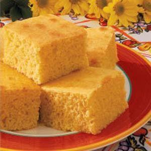 Best corn bread recipe ever! Super simple to make! Buttery Corn Bread Recipe Prep: 15 min. Bake: 25 min. Yield: 12-15 Servings 15 25 40 Ingredients 2/3 cup butter, softened 1 cup sugar 3 eggs 1-2/3 cups 2% milk 2-1/3 cups all-purpose flour 1 cup cornmeal 4-1/2 teaspoons baking powder 1 teaspoon salt