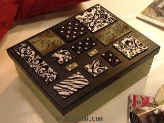 caja con animal print y lunares