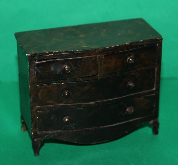 Vintage Dolls House Triang Queen Anne Period Furniture Chest Of Drawers 1930's | eBay
