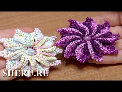 Цветы крючком с закрученными лепестками (5 уроков,и цветы все разные) | razpetelka.ru