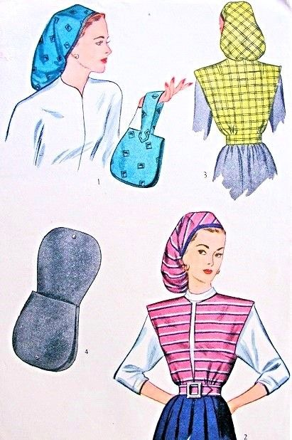 De 99 bästa Accessories Vintage Sewing Patterns-bilderna på Pinterest