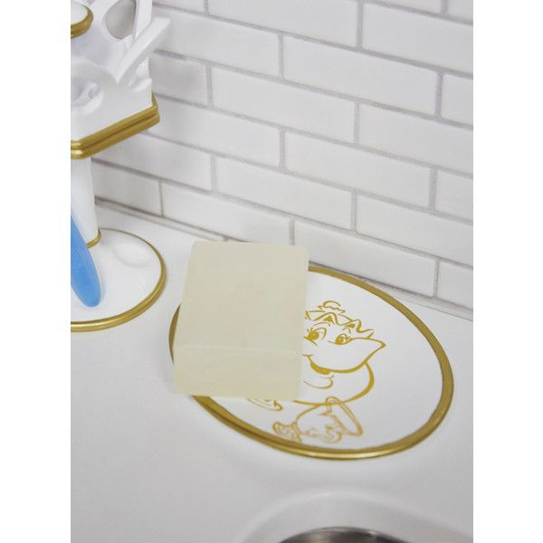 Disney Beauty And The Beast Gold Sketch Soap Dish ($13) ❤ Liked On Polyvore  Featuring Home, Bed U0026 Bath, Bath, Bath Accessories, Gold Bath Accessories,  ...
