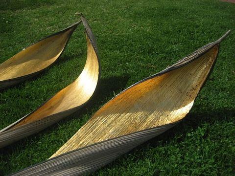 Husk Collection gold leaf palm pods - Husk Toorak - Ferwerda Art