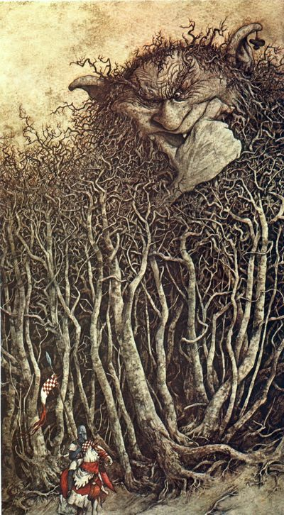 """From """"The Land of Froud"""" by Brian Froud The Goblin Ball: Ember Rule, Melbourne, Australia.   En esta imagen podemos ver la influencia del Romanticismo en la  fuerza, emoción, libertad e imaginación que expone la imagen. El romanticismo fue un rebelión contra las convenciones sociales."""