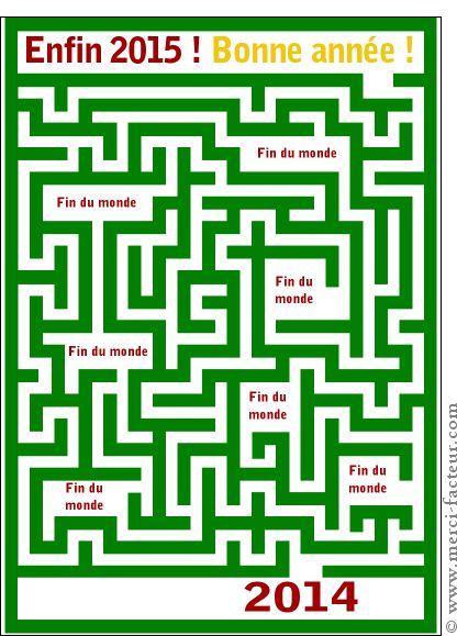 Carte Labyrinthe vers la nouvelle année pour envoyer par La Poste, sur Merci-Facteur !