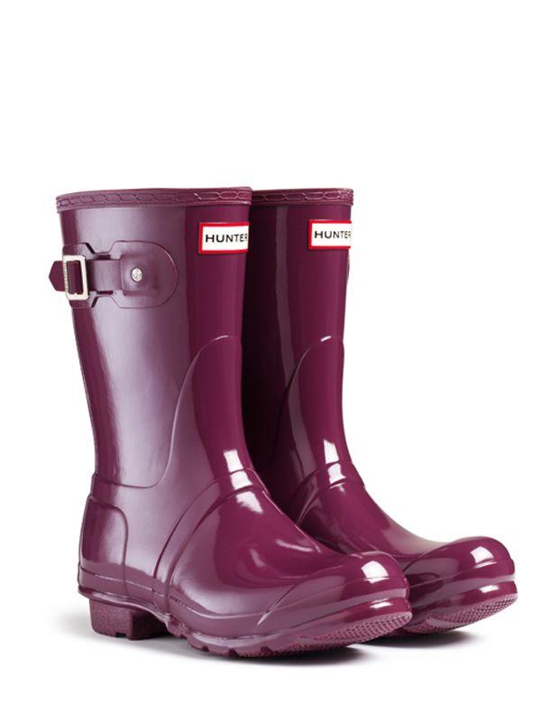 Size 8 Original Short Gloss Rain Boots | Hunter Boot