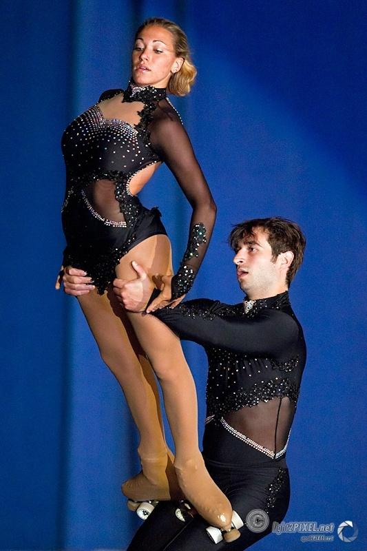 Venerucci and Decembrini - Italian pairs artistic roller skating champions