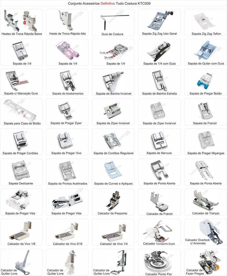 tipos de calcadores de maquina de costura - Pesquisa Google