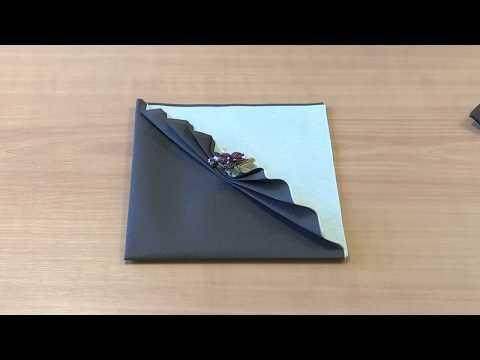 Le Portefeuille - Etalmag - Pliage de serviettes - YouTube
