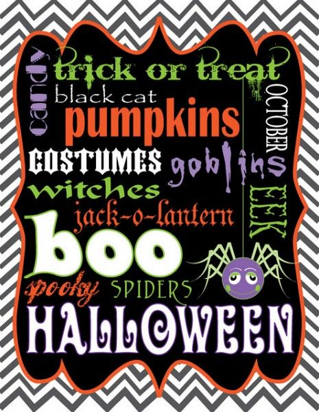 free halloween printables | Last Minute FREE Halloween Printables from our Members | Catch My ...: Art Printable, Holiday, Subwayart, Halloween Fall, Free Halloween, Halloween Printables, Halloween Subway Art, Halloween Ideas, Free Printables