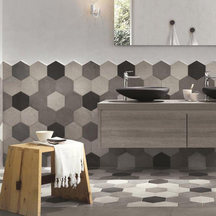Carrelage sol et mur gris ciment effet b ton time x cm leroy merl - Smart tiles chez leroy merlin ...