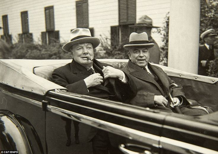 She also revealed insight into Churchill's dealings away from the war, and said the 1945 UK General Election was a 'disturbance' and that the country 'should have let Mr Churchill see it (the end of the war) through without giving him all this extra work'. Churchill is pictured in Quebec in 1944 with Canadian Prime Minister Mackenzie King where the pair discussed Canada's continued support for the Allied cause