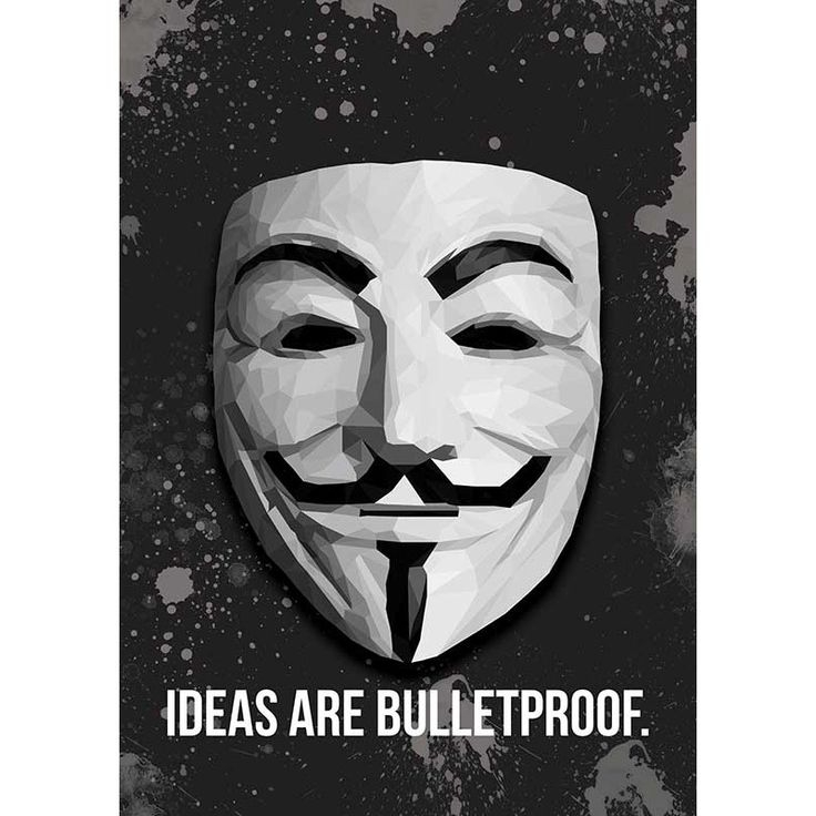 Vendetta: Ideas Are Bulletproof Poster | Buy Posters online | Buy Frames online | thesouledstore.com