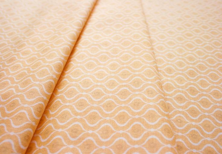 Anthology Fabrics Lullaby Baby PR550 geo fluorescent orange