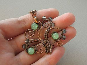 A Really Different Wire Wrapped Tree Pendant tutorial