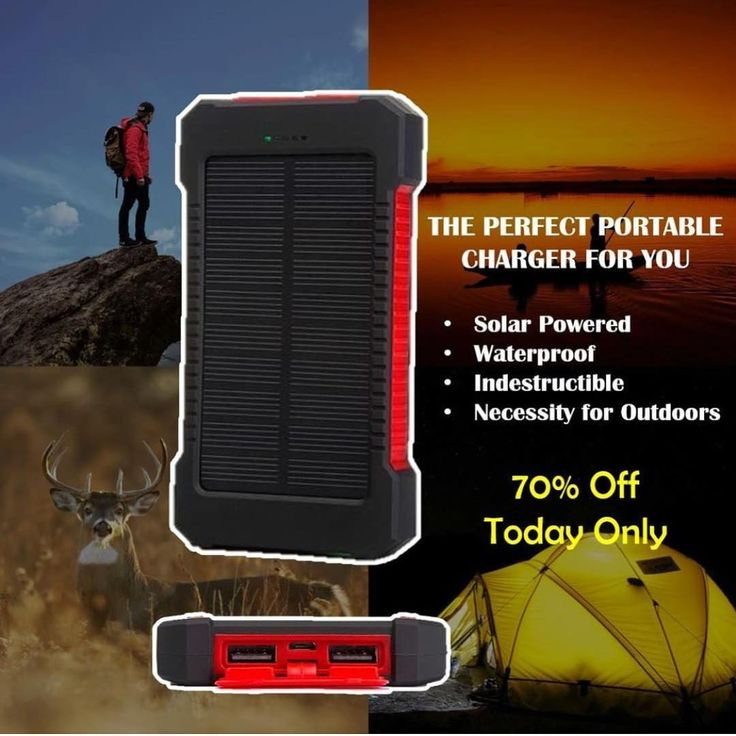 Need A Way To Charge Your Phone While Outside? Imagine charging your phone whenever you're under the sun.  HURRY! To GET A MASSIVE 70% Discount TODAY ONLY LINK IN BIO ---> LINK IN BIO --->  Ltd. Amount Available & Selling Quick - Grab Yours Before It's Too Late  . . #hunt #bassfishing #campinglife #fishing #tent #outdoorlife #outdoorwomen #whitetail #hunters #huntress #deerhunting #outdoorlife #naturelife #deer