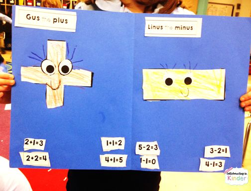 Gus the Plus and Linus the Minus FREE craftivity to practice identifying addition and subtraction problems!