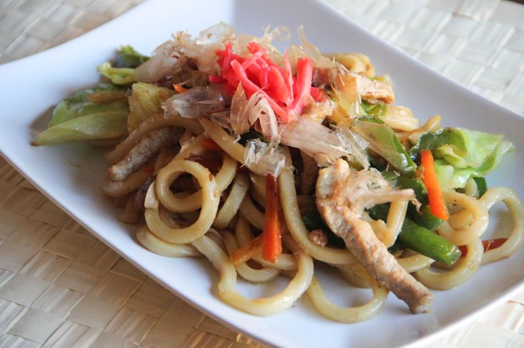 Yakiudon is stir-fried Udon noodles with meat and vegetables. It is so easy and quick to make that it is more home cooking rather than restaurant food. Even though Yakiudon isn't fancy Japanese food, with a lot of vegetables and meat, it is still a very good thing for you …
