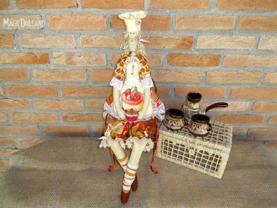 Handmade Tilda doll  Kitchen Fairy Tilda doll от MagicDolland