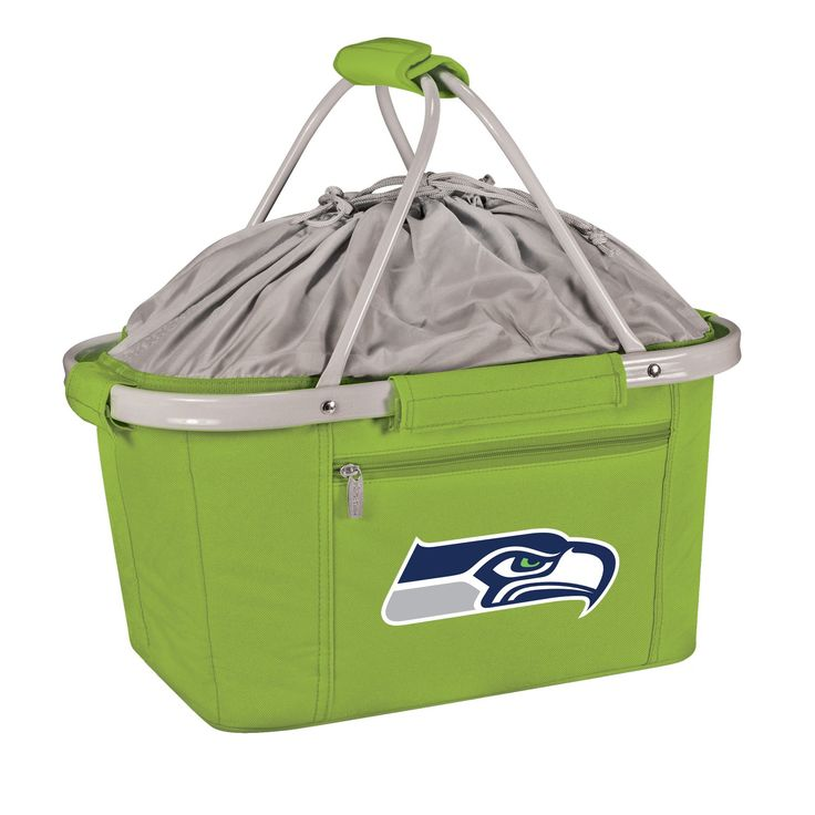 Picnic Time NFL Seattle Seahawks Metro Basket Collapsible Tote - Lime