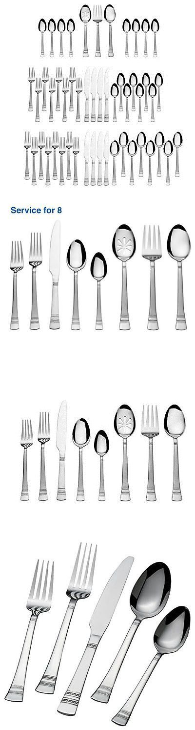 Flatware and Silverware 20693: Silverware Set Stainless Steel 51Piece Service Flatware Dinner Kitchen Choice -> BUY IT NOW ONLY: $49.36 on eBay!