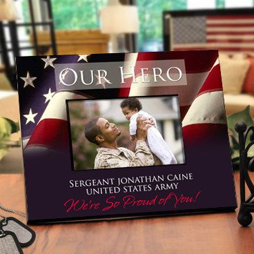 Patriotic Picture Frame with Military Theme  by TaylorJuneGifts, $36.00 I want this for Sean's Marine Picture.